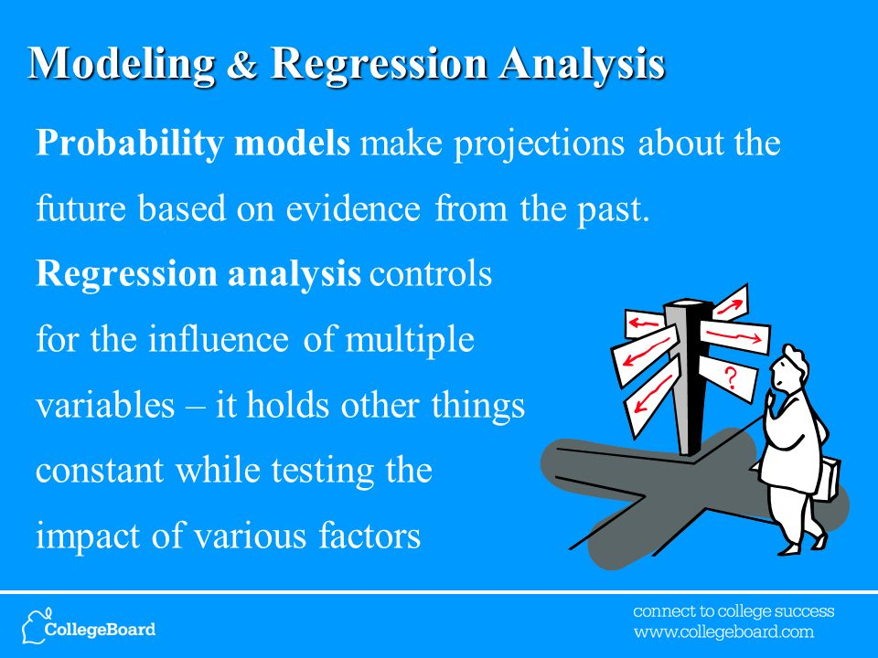 Modeling & Regression Analysis Probability models make projections about the future based on evidence from the past.