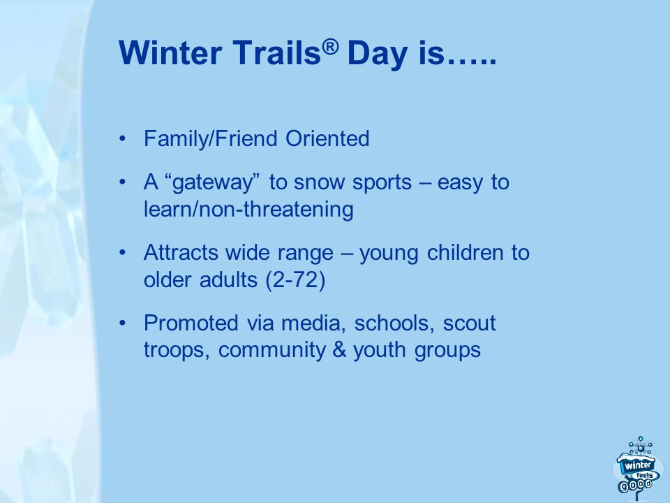 Winter Trails ® Day is…..