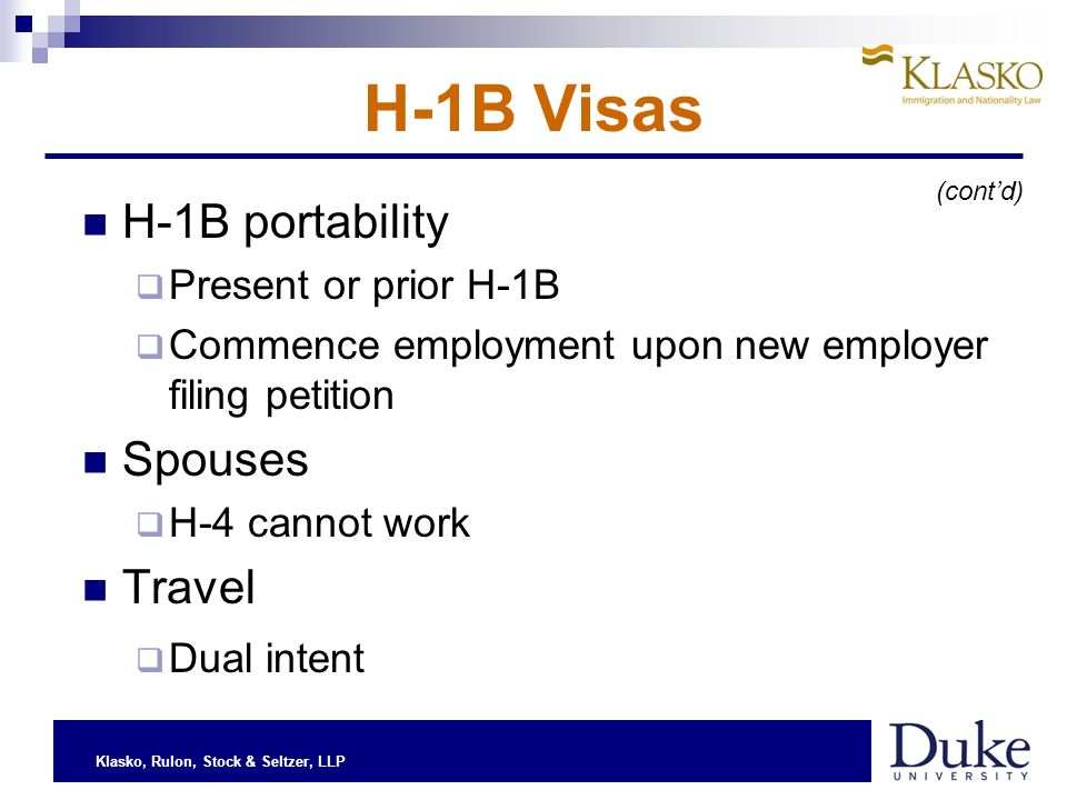 Klasko, Rulon, Stock & Seltzer, LLP H-1B Quota What is it, and what does it mean.