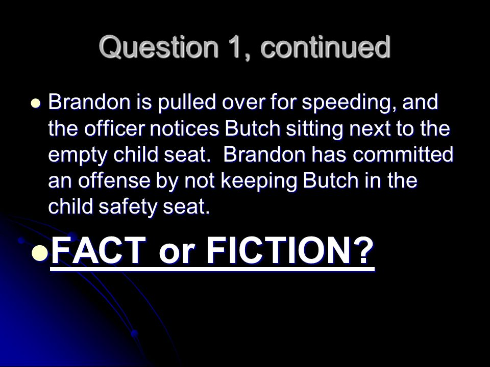 Question 1 Answer FACT.FACT.