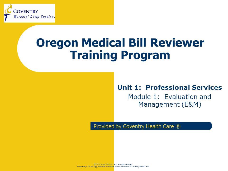 12 Oregon Regulation Training – E & M Established Patients Established patients may return for a follow-up visit regarding the status of the initial illness or injury.
