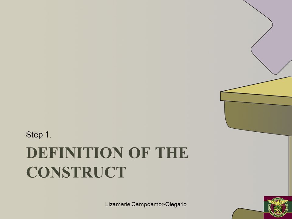 DEFINITION OF THE CONSTRUCT Step 1. Lizamarie Campoamor-Olegario