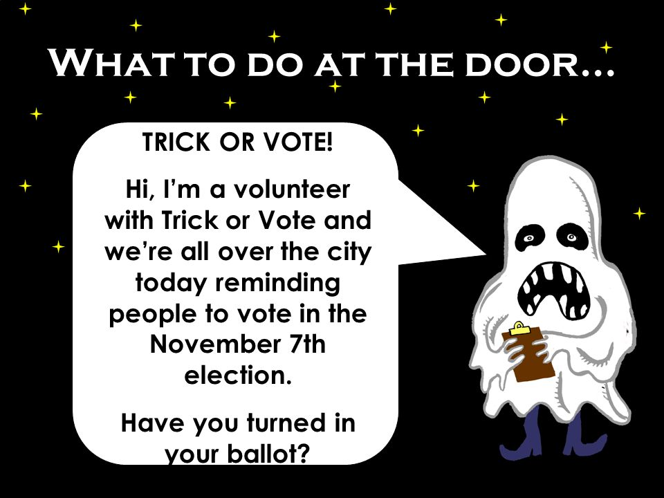 What to do at the door… Well, heres some information about ballot measures and a list of your local drop boxes.