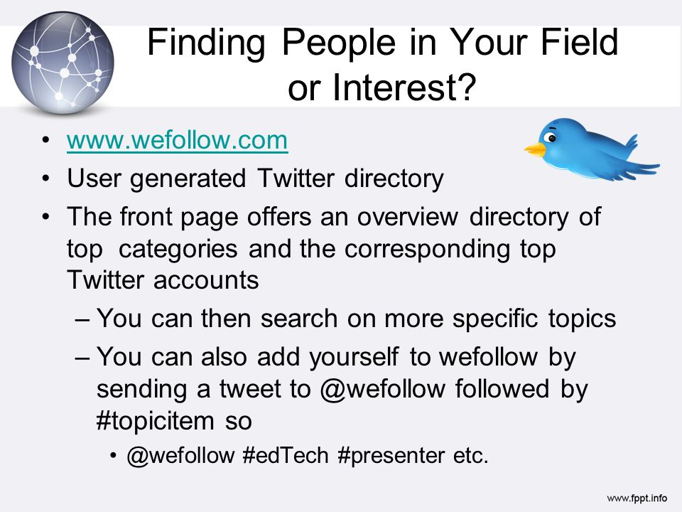 Finding People in Your Field or Interest.
