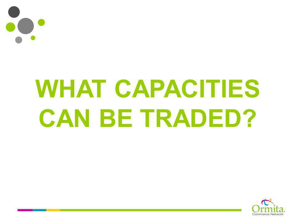 WHAT CAPACITIES CAN BE TRADED