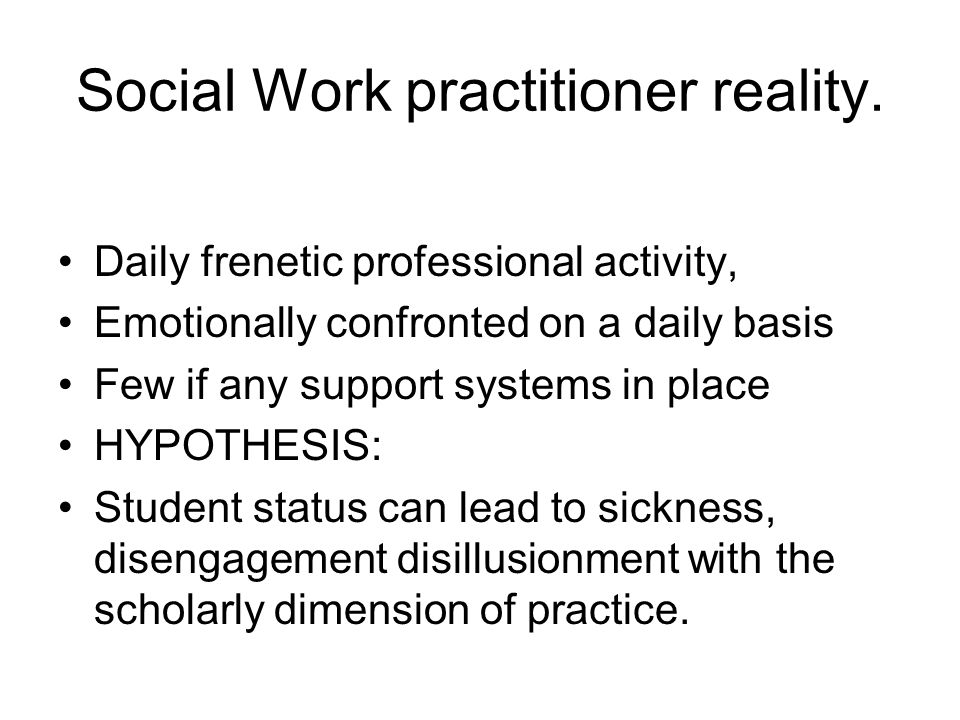 Learning from within Social Work Practice.
