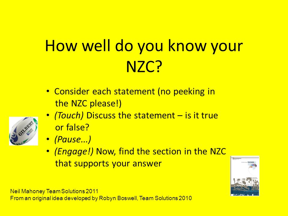 How well do you know your NZC.