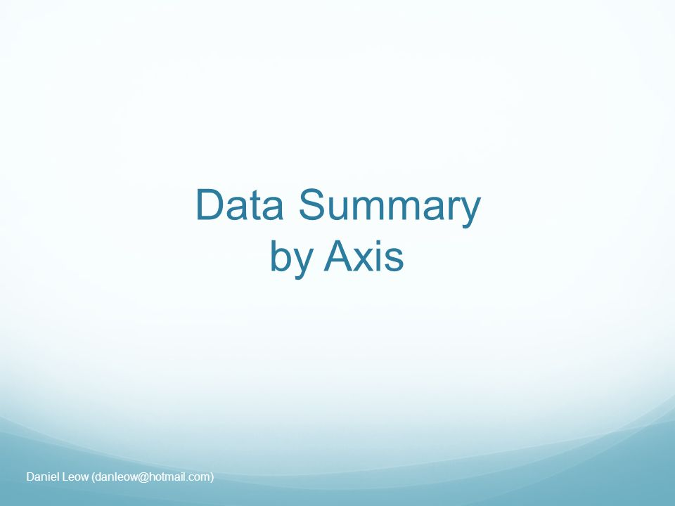 Data Summary by Axis Daniel Leow