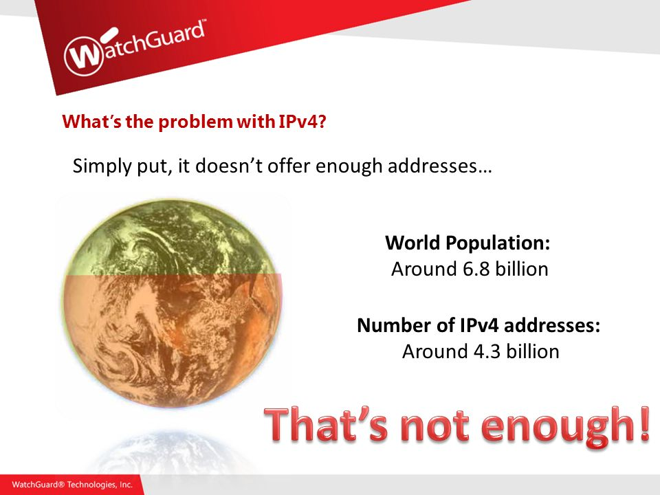 Whats the problem with IPv4.