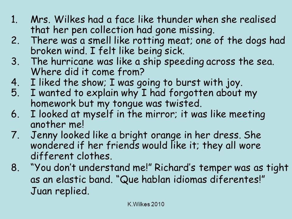K.Wilkes 2010 Did you get it right? Did you see the links to the poems from different cultures?