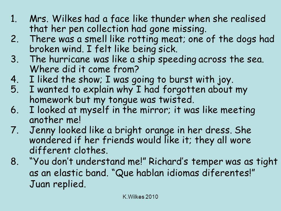 K.Wilkes 2010 1.Mrs.