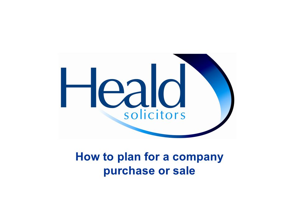 How to plan for a company purchase or sale
