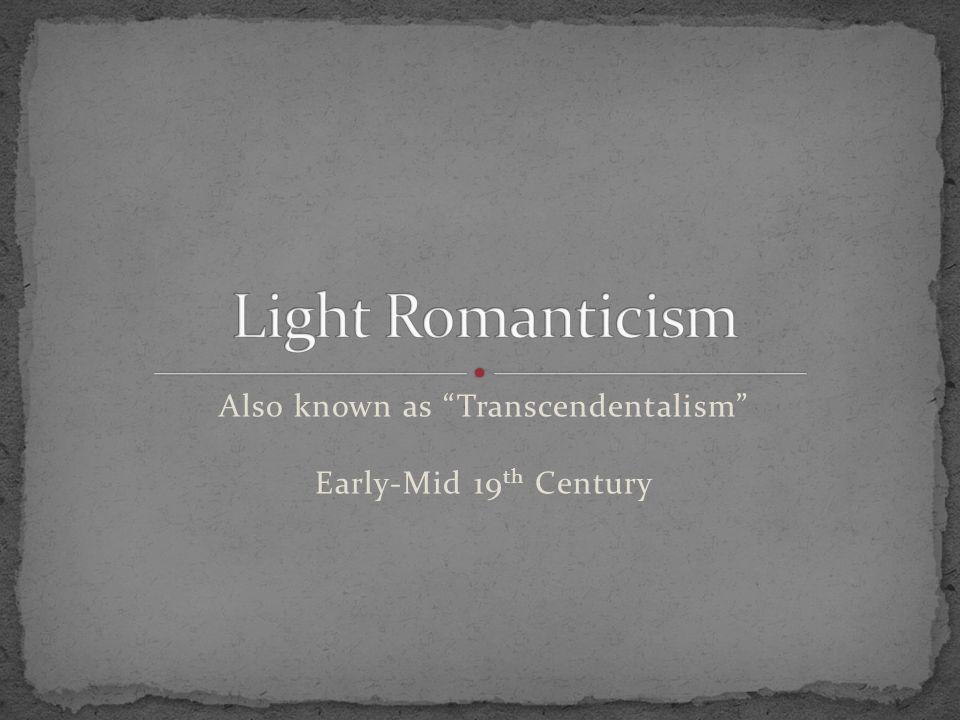 Puritanism Faith Authority Theology Pre-destiny Age of Reason Reason, Logic Skepticism Science Self-Made Dark Romanticism Imagination, Madness, Neg.