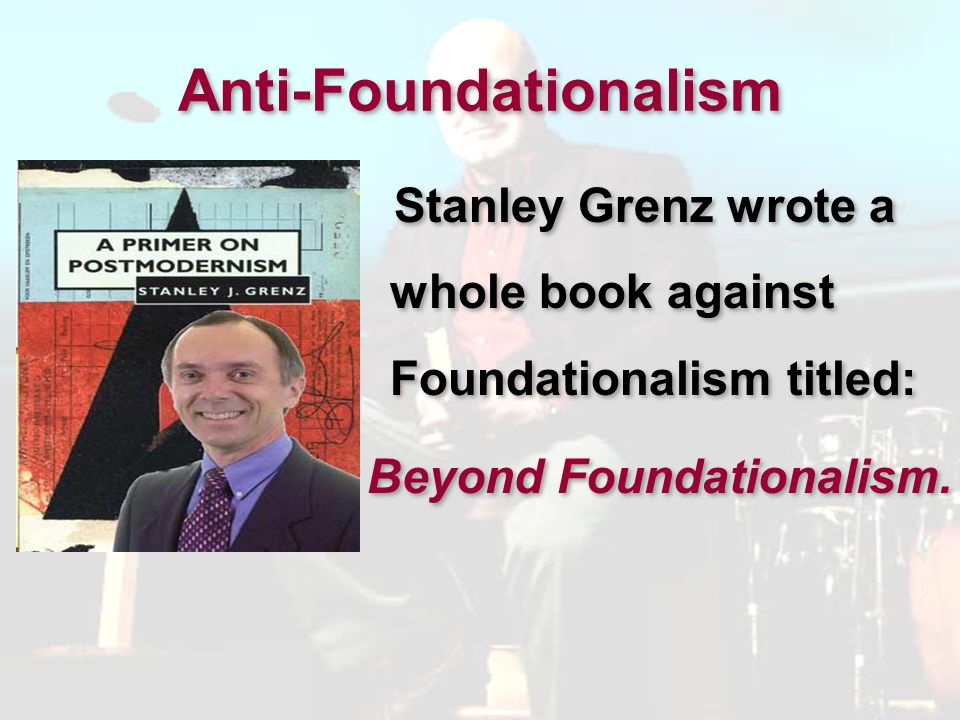 Anti-Foundationalism For modern Western Christians, words like authority, inerrancy, infallibility, revelation, objective, absolute, and literal are crucial….