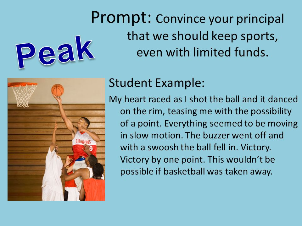 Prompt: Convince your principal that we should keep sports, even with limited funds.