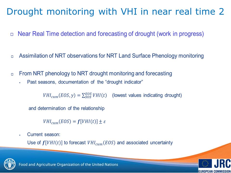 Drought monitoring with VHI in near real time 2