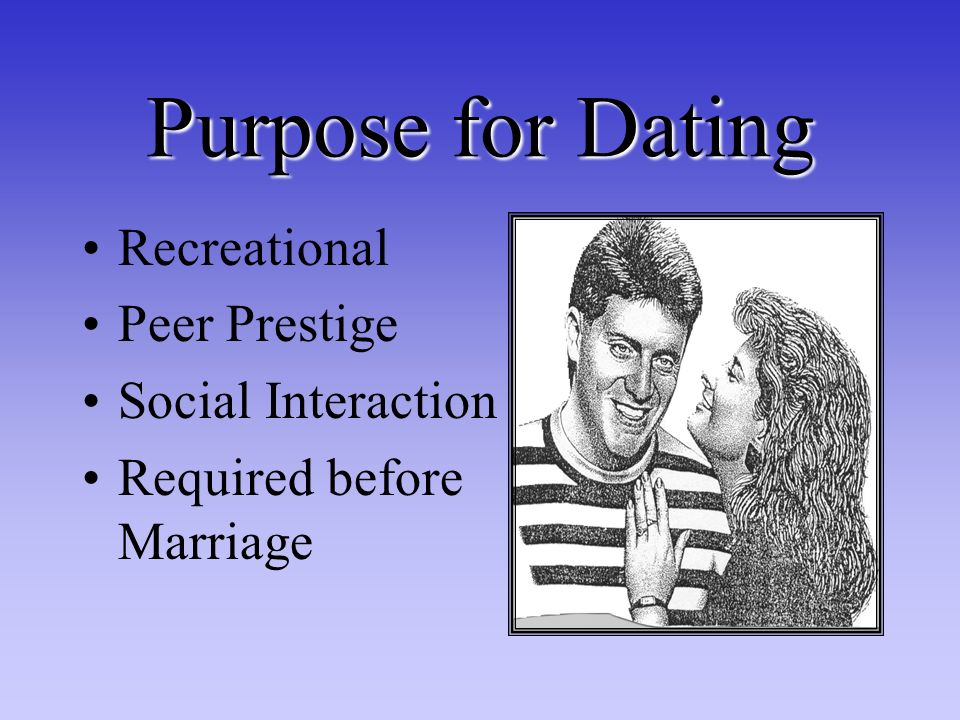Purpose for Dating Recreational Peer Prestige Social Interaction Required before Marriage
