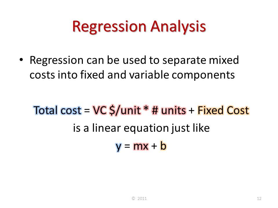 Regression Analysis © 201112
