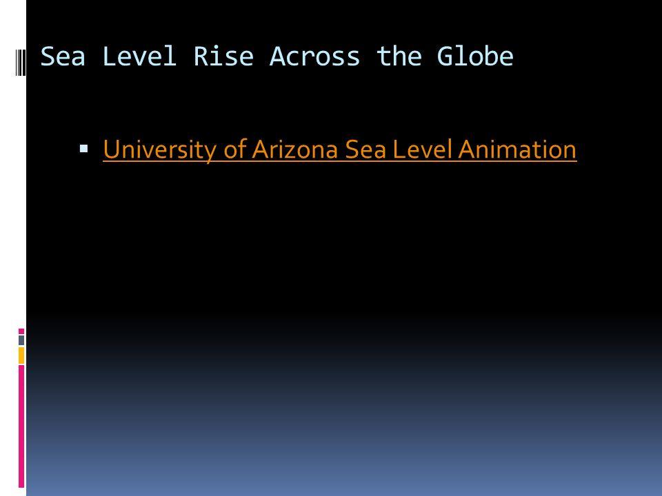 Sea Level Rise Across the Globe University of Arizona Sea Level Animation