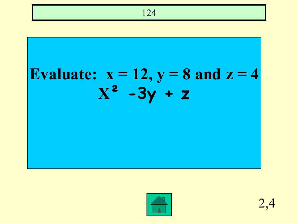 2,3 The quotient of a number and 12 is 36 (x/12) = 36