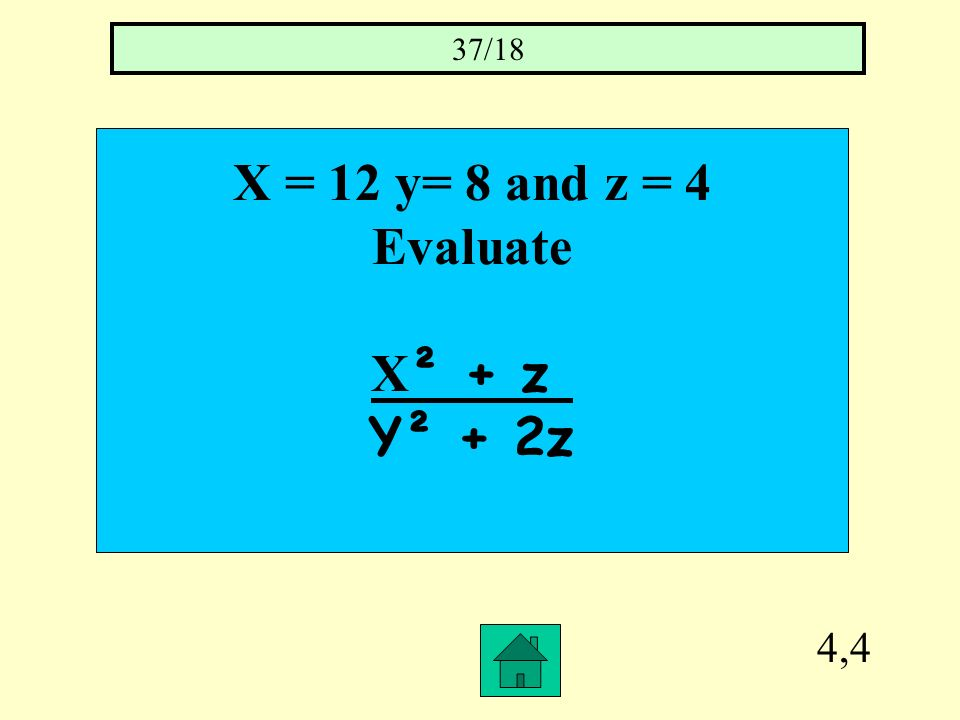 4,3 Thirteen minus three times A number is – 3x = 14