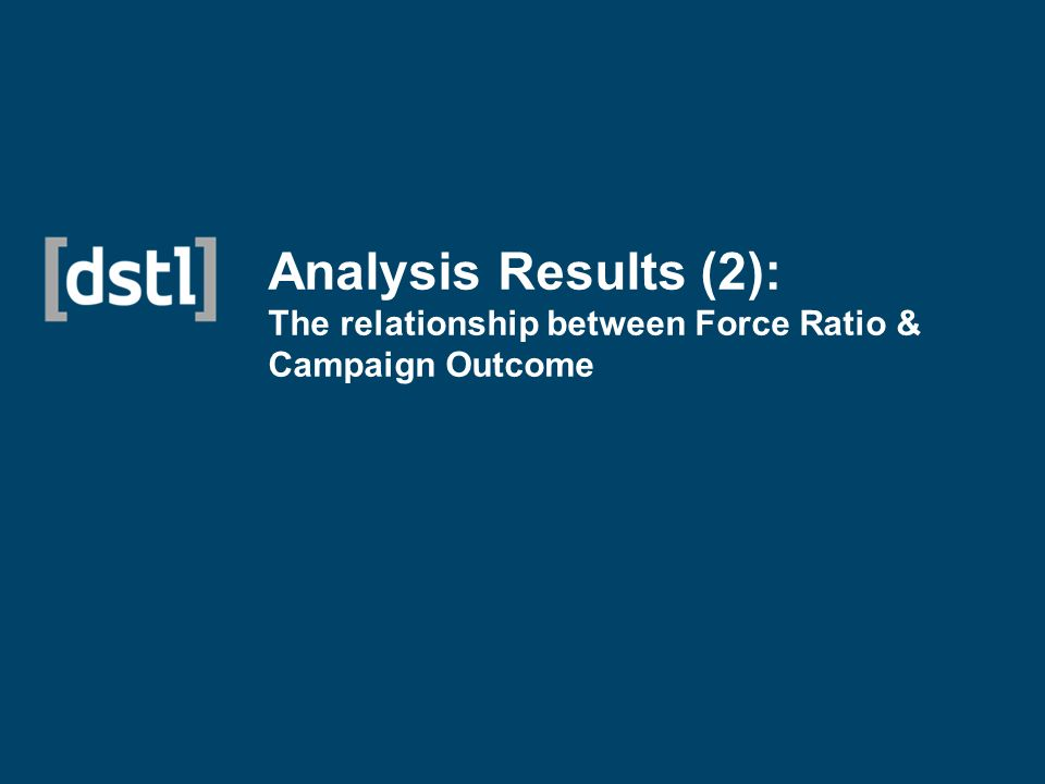 Analysis Results (2): The relationship between Force Ratio & Campaign Outcome