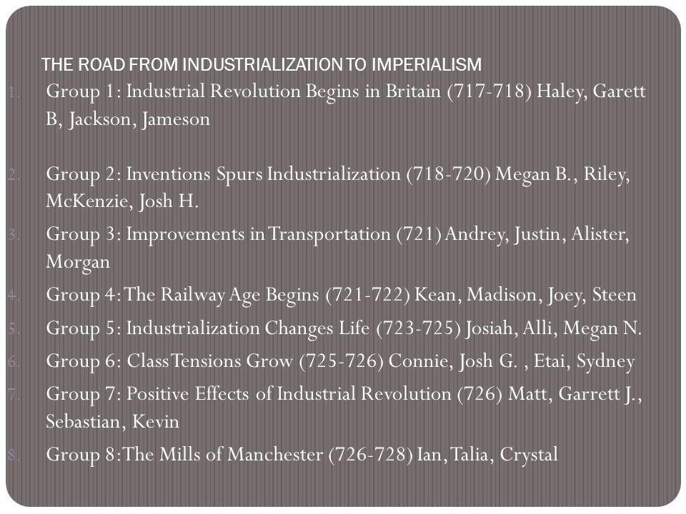 essay on effects of industrial revolution Industrial revolution essay the industrial revolution and its effects on america the industrial revolution ushered in an entirely new area in our history that.