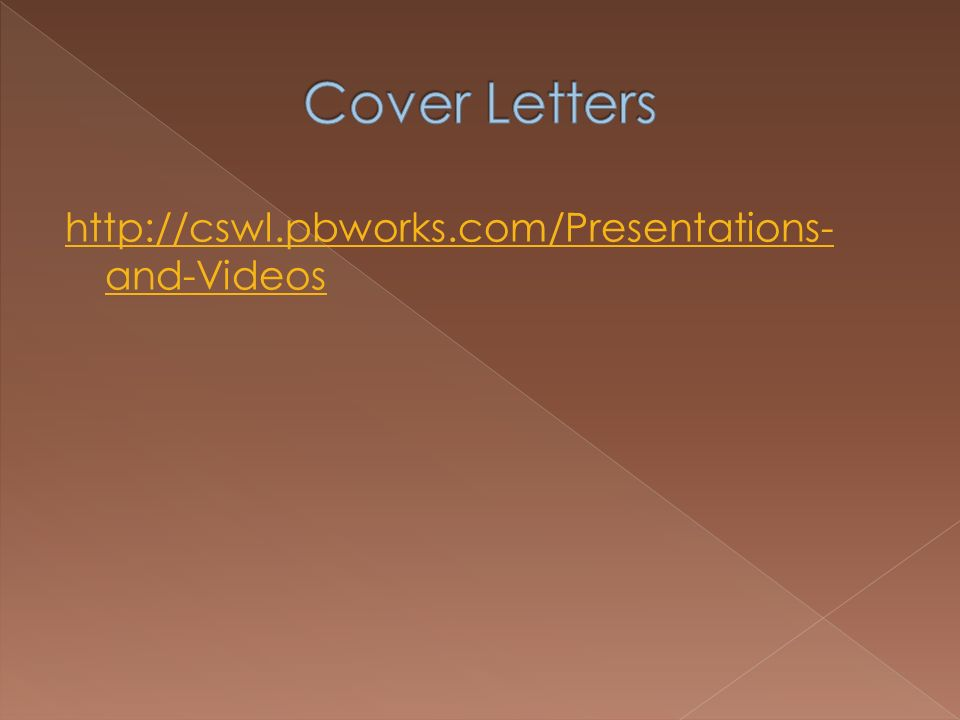 http://cswl.pbworks.com/Presentations- and-Videos