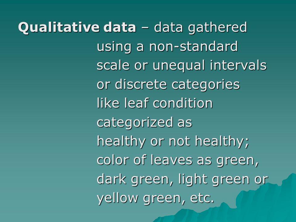 B.Continuous Data vs.