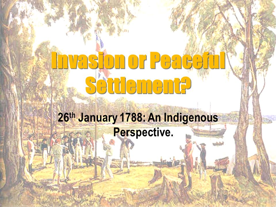 The Gamaraigal Confront the British:The First Year of Settlement On 26 th January 1788 British ships containing 290 seamen, soldiers and officials and 717 convicts sailed into Port Jackson, to confront the Gamaraigal people of the Sydney area.