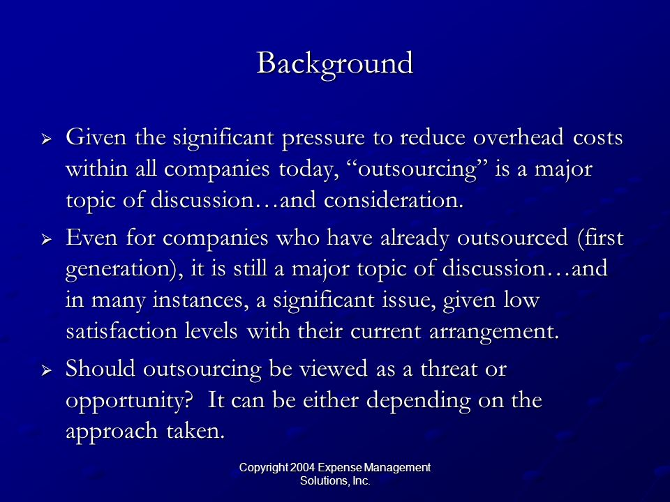 Copyright 2004 Expense Management Solutions, Inc.