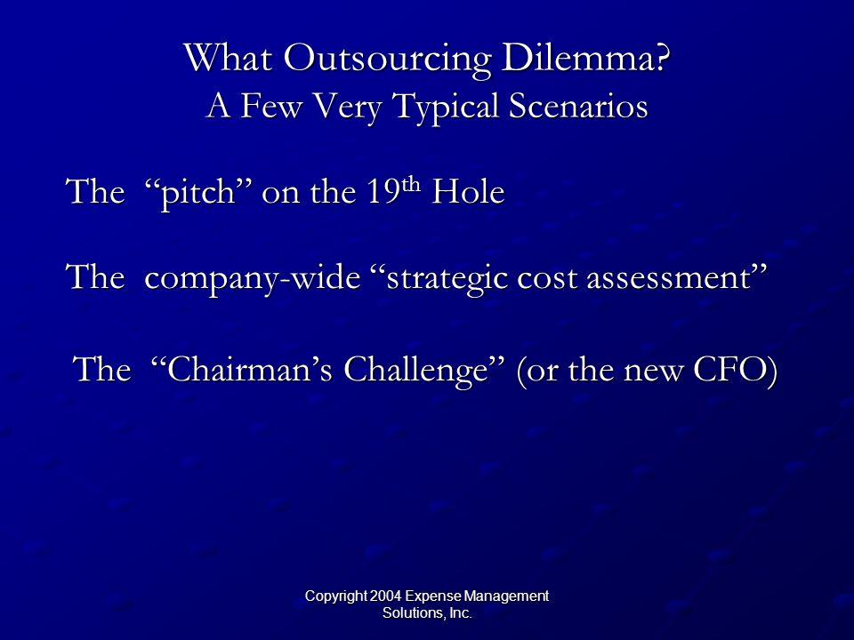 Copyright 2004 Expense Management Solutions, Inc. Detailed Comparison Against BM Group