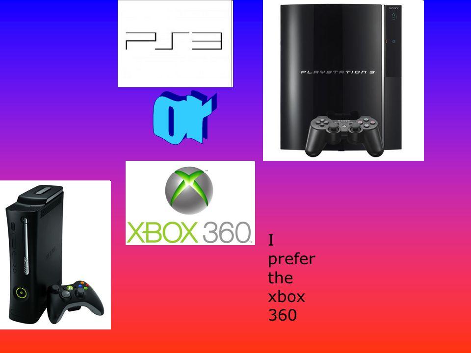I prefer the xbox 360