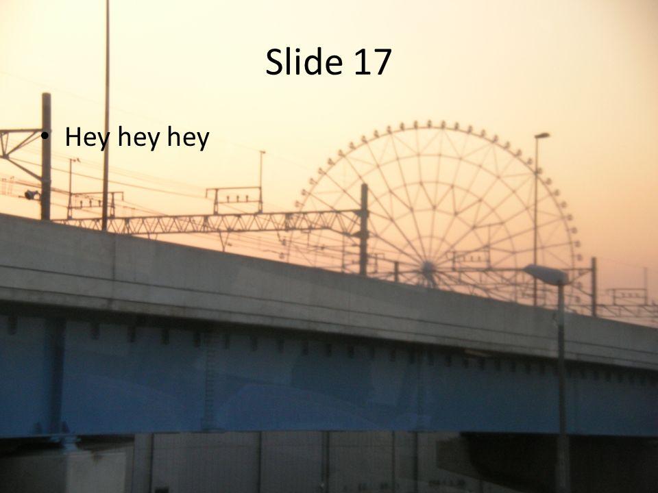Slide 17 Hey hey hey