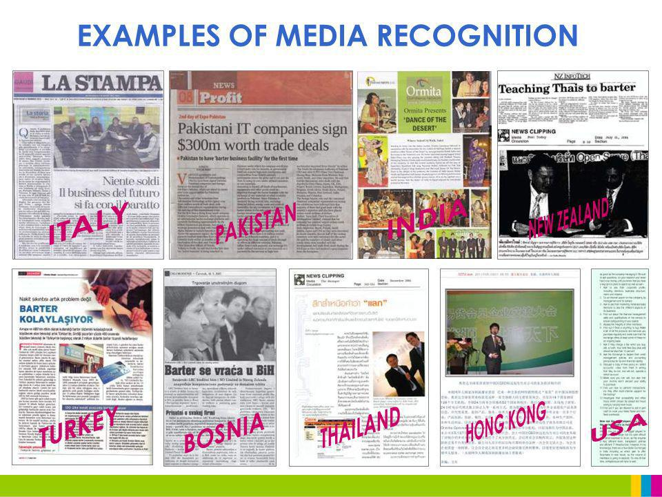 EXAMPLES OF MEDIA RECOGNITION