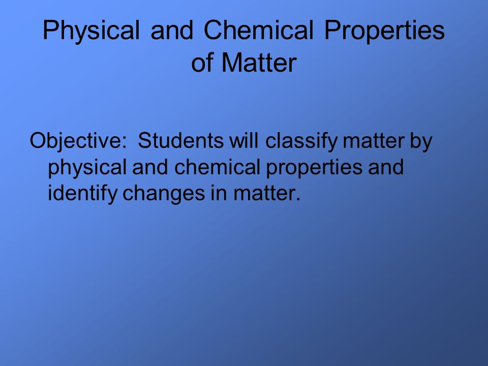 When matter undergoes a CHEMICAL CHANGE, the atoms in the original substance are rearranged and produce new substances that are structurally different than the original matter.