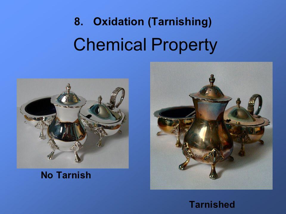8.Oxidation (Tarnishing) No Tarnish Tarnished Chemical Property