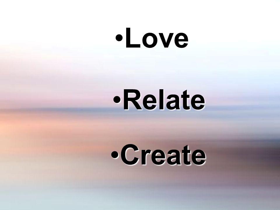 LoveLove RelateRelate CreateCreate