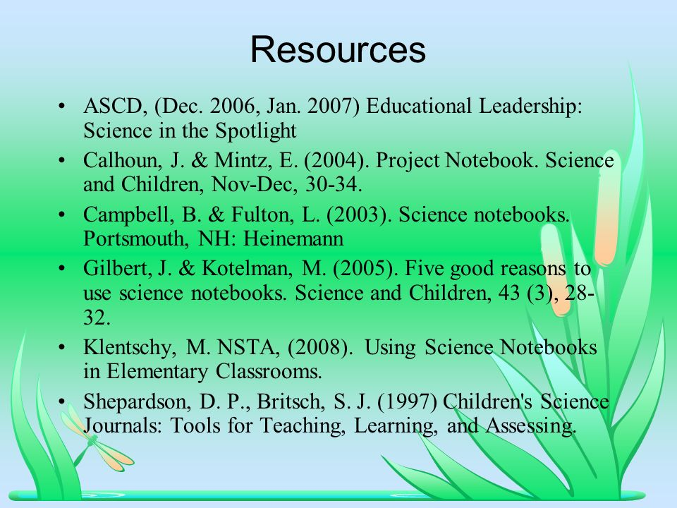 Resources ASCD, (Dec. 2006, Jan.