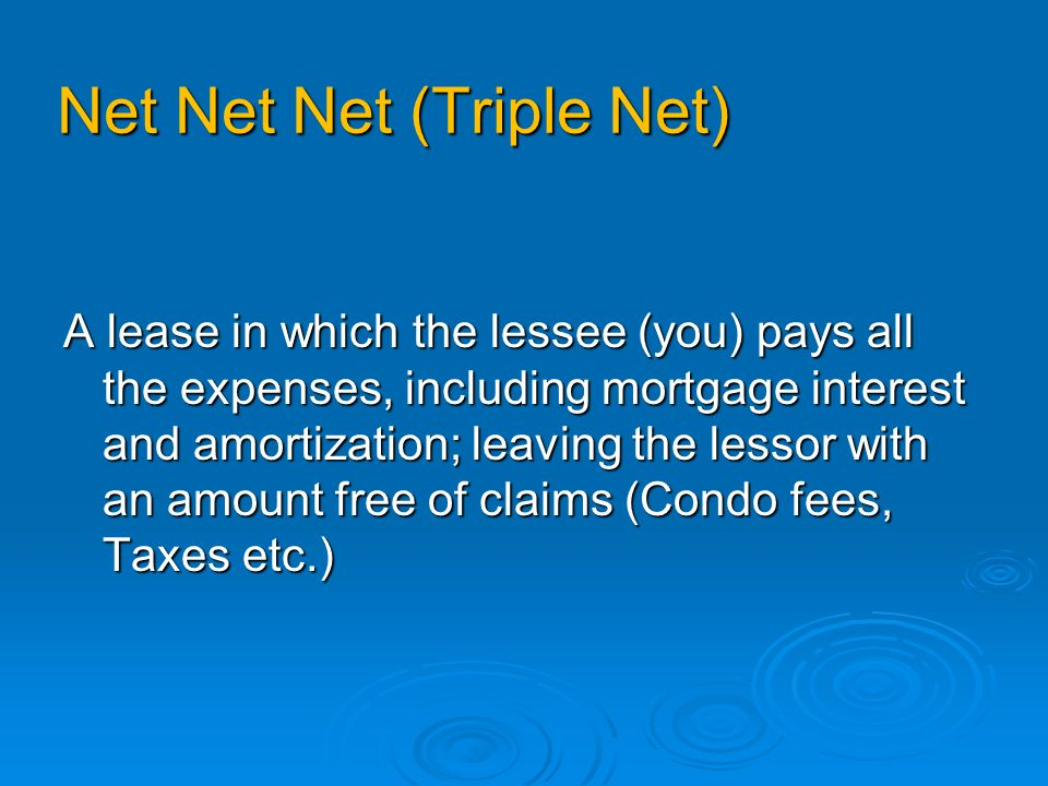 Leases Dont get STUNG by signing an inappropriate LEASE……