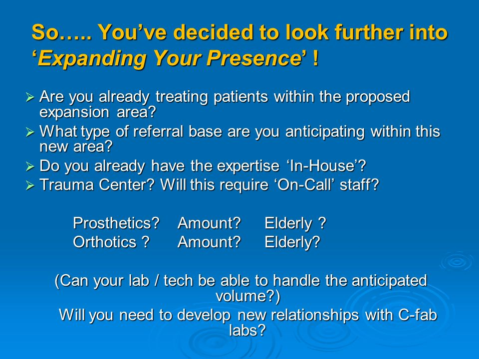 So….. Youve decided to look further intoExpanding Your Presence .