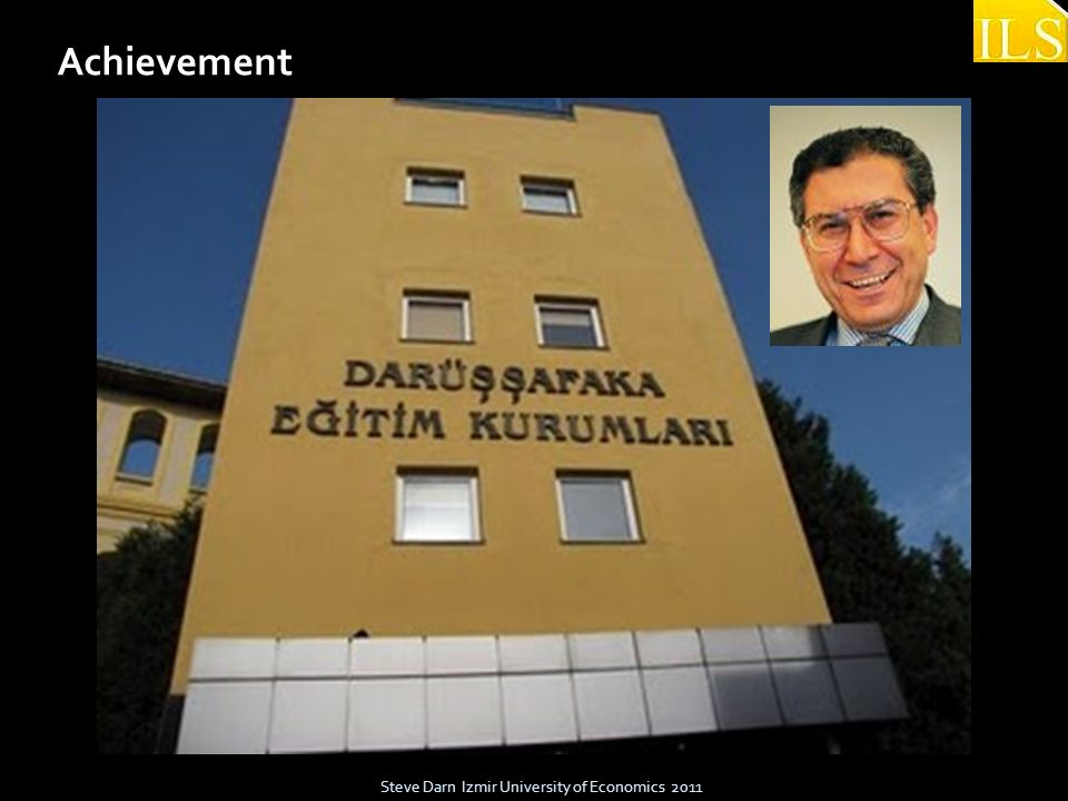 Steve Darn Izmir University of Economics 2011 Achievement