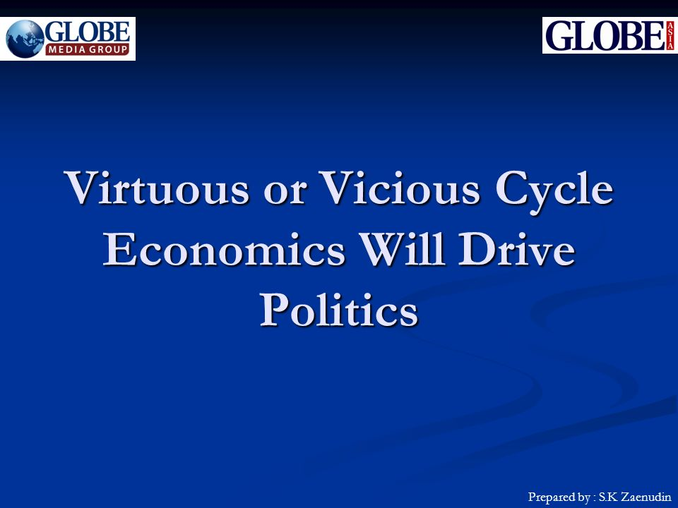 Virtuous or Vicious Cycle Economics Will Drive Politics Prepared by : S.K Zaenudin