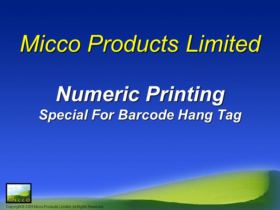 Copyright © 2005 Micco Products Limited.All Rights Reserved.