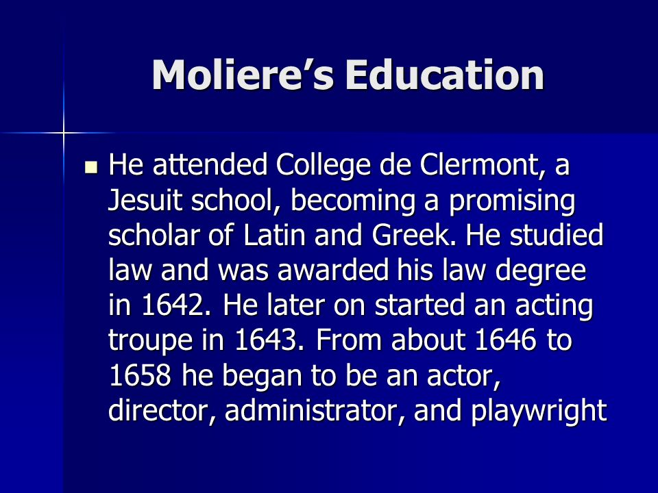 Molière s principal short plays - The Jealous Husband (1645?) - The Flying Doctor (1648?) - Sganarelle (1660) - The Rehearsal at Versailles (1663) - The Forced Marriage (1664) - The School for Husbands (1661) - The School for Wives (1662) - Tartuffe (1664) - Don Juan (1665) - The Misanthrope (1666) - The Doctor in Spite of Himself (1666) - Amphitryon (1668) - The Miser (1668) - George Dandin (1668) - The Bourgeois Gentleman (1670) - Scapin (1671) - The Learned Ladies (1672) - The Imaginary Invalid (1673)