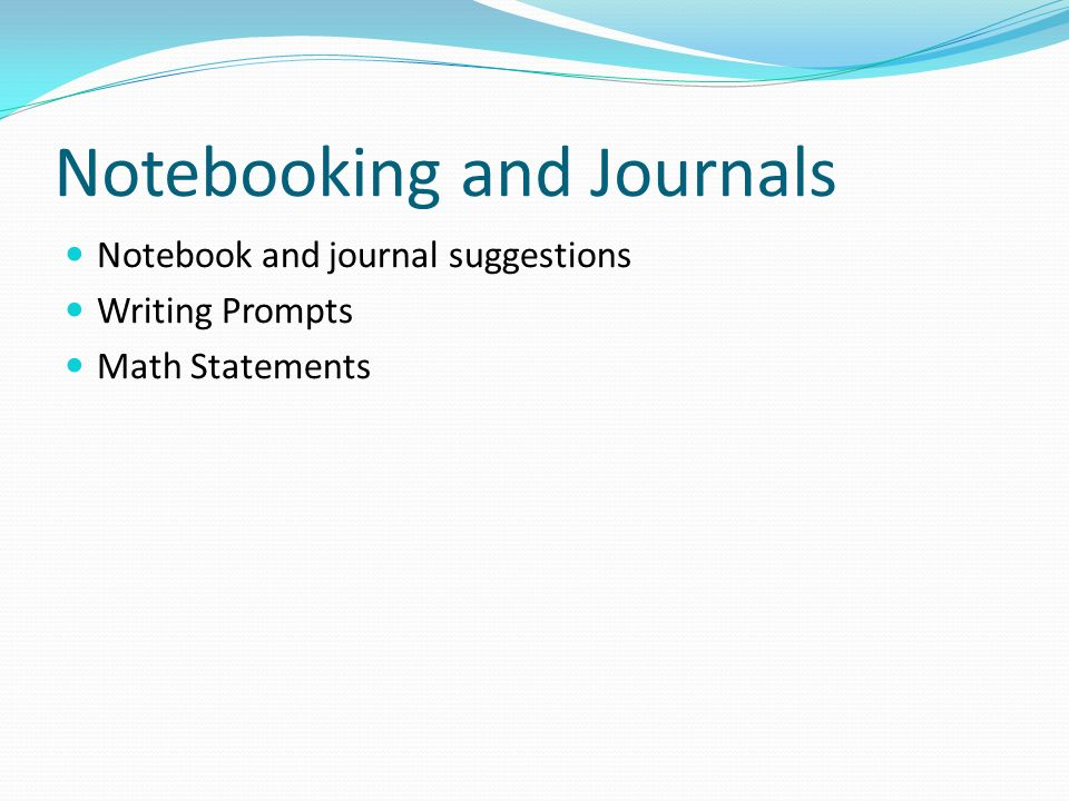 Notebooking and Journals Notebook and journal suggestions Writing Prompts Math Statements