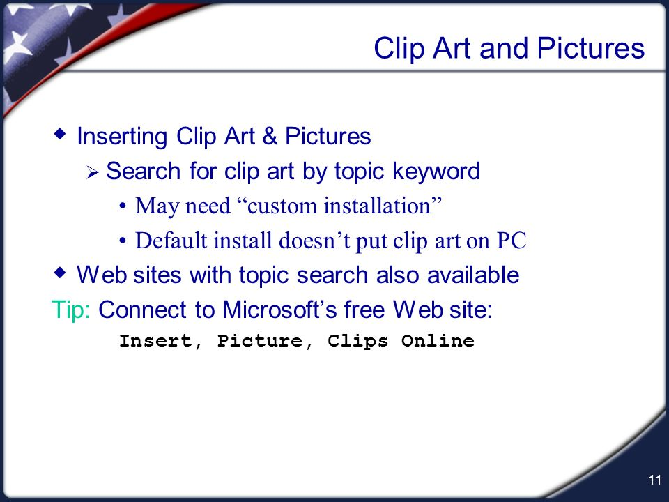 10 Numbered Lists 1. New feature in PowerPoint 2000 Will get interesting results if played back on PC with PowerPoint 97 2. Select from Toolbar Tip: R