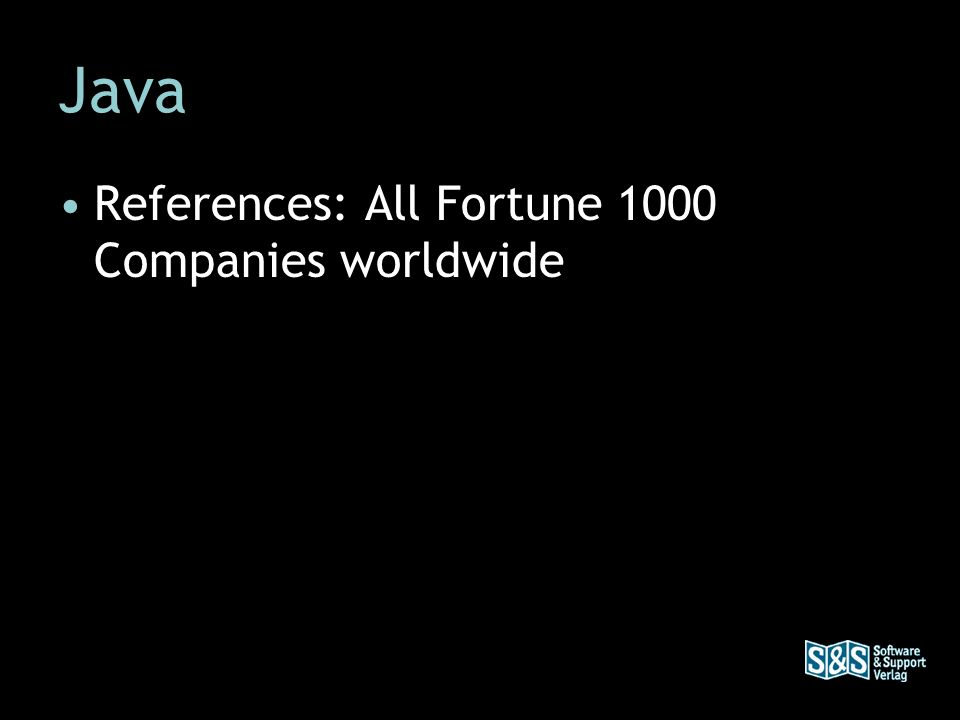 Java References: All Fortune 1000 Companies worldwide