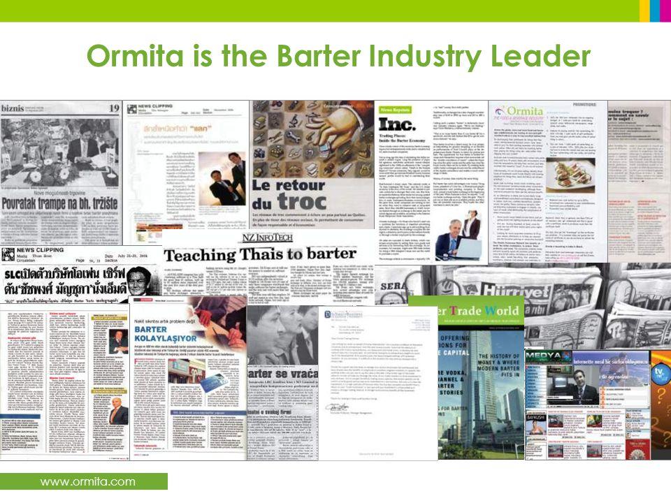 www.ormita.com Ormita is the Barter Industry Leader