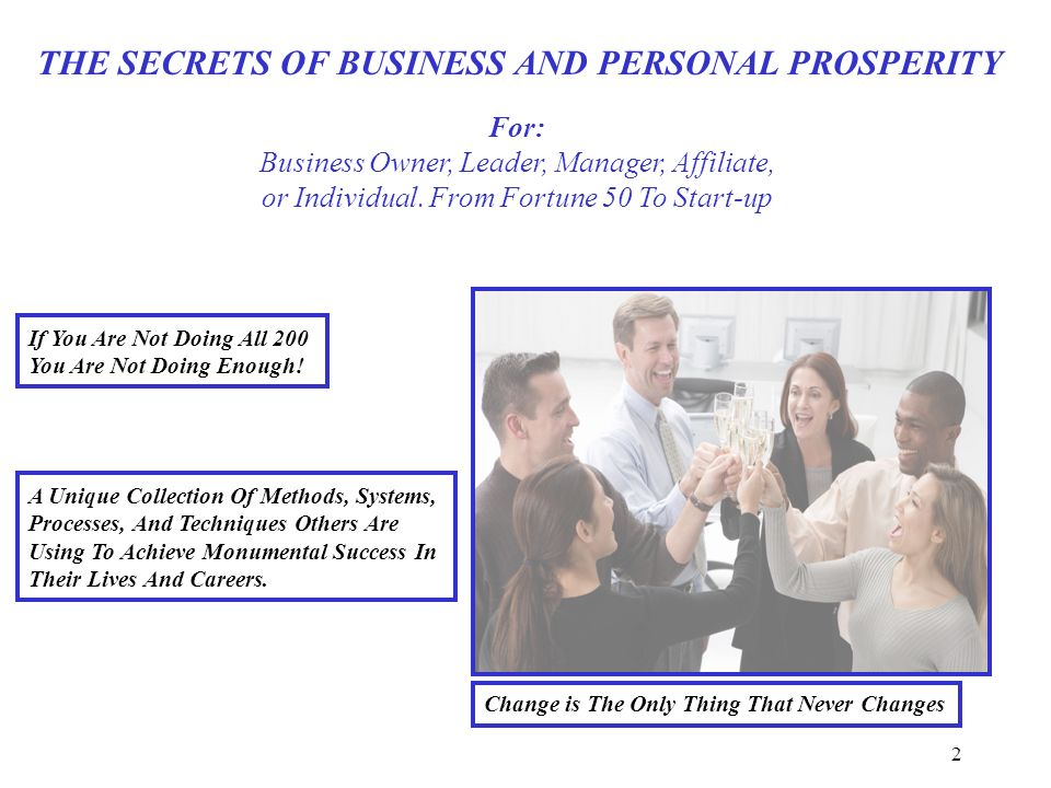 2 For: Business Owner, Leader, Manager, Affiliate, or Individual.